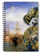 Japanese Spitz Art Canvas Print Spiral Notebook