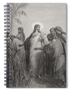Jesus And His Disciples In The Corn Field Spiral Notebook
