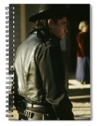 Johnny Cash About To Draw On Kirk Douglas Old Tucson Arizona 1971 Spiral Notebook