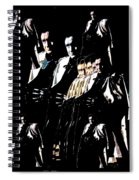 Johnny Cash Multiplied  Spiral Notebook