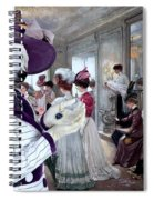 Kuvasz Art Canvas Print Spiral Notebook