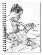 Lady On Smartphone  Spiral Notebook