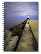 Ludington  Light House Michigan Spiral Notebook