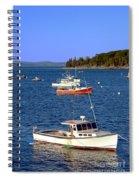 Maine Lobster Boat Spiral Notebook