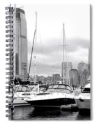 Marina In Black And White Spiral Notebook