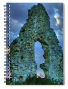 Midley Church Ruins At Dusk Spiral Notebook