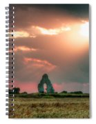 Midley Church Ruins At Sunset Spiral Notebook