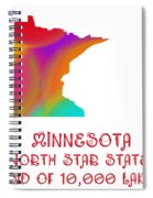 Minnesota State Map Collection 2 Spiral Notebook