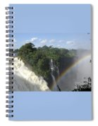 Mist And Rainbow At Victoria Falls Spiral Notebook