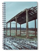 Old Barn In The Snow Spiral Notebook