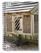 Old Fashioned Chicken Coop In Colonial Williamsburg Virginia Spiral Notebook