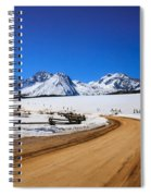 Open Road Tothe Sawtooth Mountains Spiral Notebook