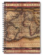 Ortelius World Map -typvs Orbis Terrarvm - 1570 Spiral Notebook