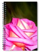 Painted Pink Rose Spiral Notebook