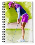 Paula Creamer Putts The Ball On The Fourth Green Spiral Notebook