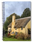 Picturesque Thatched Roof Cottage In Selworthy Spiral Notebook