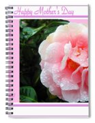 Pink Camellia - Happy Mother's Day Spiral Notebook