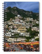 Positano Crowded Beach Spiral Notebook