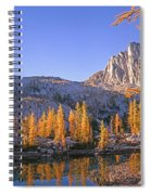 Prusik Peak Behind Larch Trees Spiral Notebook