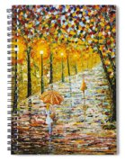 Rainy Autumn Beauty Original Palette Knife Painting Spiral Notebook