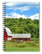 Red Farmstead In Summer Spiral Notebook