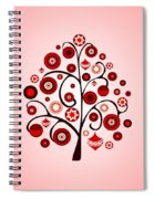 Red Ornaments Spiral Notebook