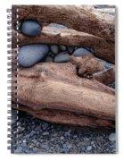 Rocks  In Driftwood Spiral Notebook