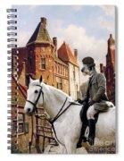 Scottish Deerhound Art Canvas Print Spiral Notebook