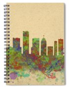 Skyline Of Detroit Usa Spiral Notebook