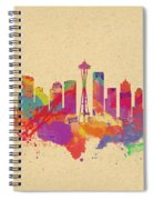 Skyline Of Seattle  Usa Spiral Notebook