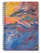Soaring Dolphins Spiral Notebook