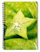 Star Fruit Carambola Spiral Notebook