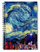 Starry Night In Bethlehem Spiral Notebook