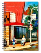 Steinbergs Grocery Store Paintings Vintage Montreal Art Order Prints Originals Commissions Cspandau Spiral Notebook
