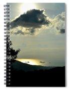 Sunset At Five Islands Spiral Notebook