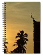 Sunset In The Tempel Spiral Notebook