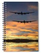 Sunset Lancasters Spiral Notebook