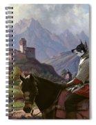 Swedish Elkhound - Jamthund Art Canvas Print Spiral Notebook