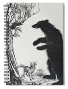 The Bear And The Fox Spiral Notebook