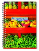 No Squeezing The Fruits Spiral Notebook