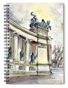 The Millennium Monument In Budapest Spiral Notebook