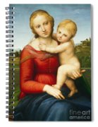 The Small Cowper Madonna Spiral Notebook