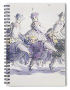 Three Kings Dancing A Jig Spiral Notebook
