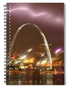 Thunderstorm Over The Arch Spiral Notebook