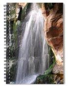Veil Of Water Spiral Notebook