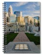 View Of Charlotte Skyline Spiral Notebook
