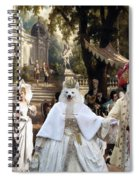Volpino Italiano Art Canvas Print Spiral Notebook