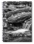 Waterfall Great Smoky Mountains Painted Bw    Spiral Notebook