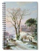 Wooded Winter River Landscape Spiral Notebook