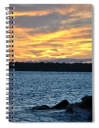 001 Awe In One Sunset Series At Erie Basin Marina Spiral Notebook